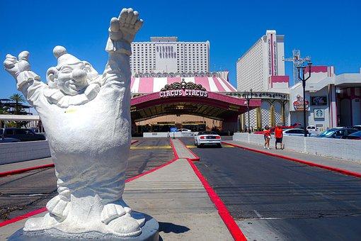 Las Vegas, Circus, Clown, Hotel, Casino, Gambling