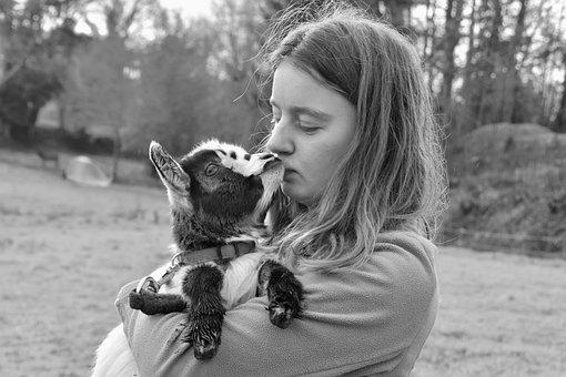 Girl And Kid, Photo Black White