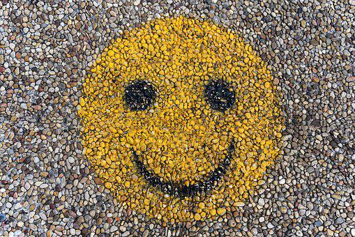 Smiley, Emoji, Characters, Mosaic, Walk, Ground