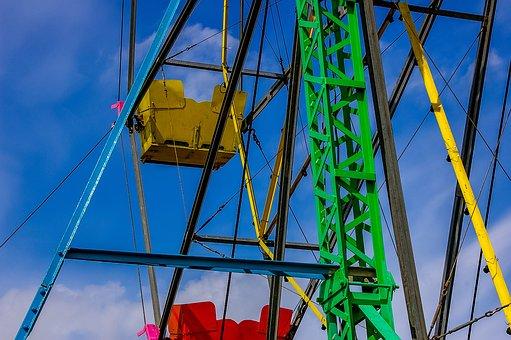 Ferris Wheel, Fair, Hustle And Bustle, Year Market