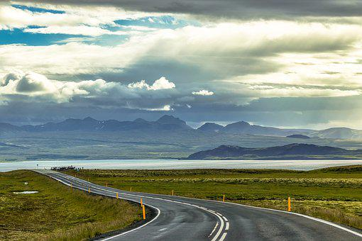 Iceland, View, Landscape, Nature, Clouds