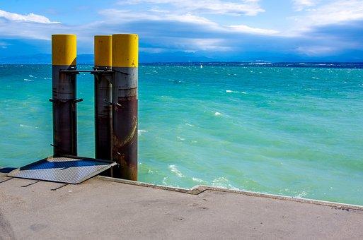 Port, Lake, Water, Lake Constance, Pier, Kai, Bollard