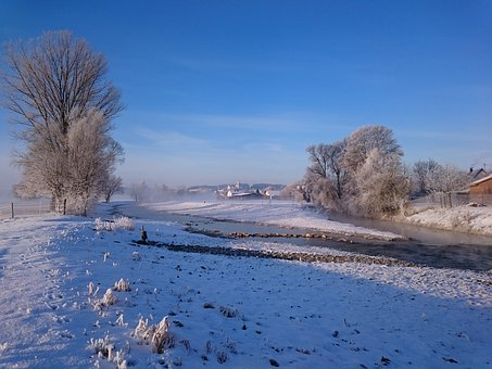 Sun, Winter, Cold, Landscape, Nature, Wintry, Blue