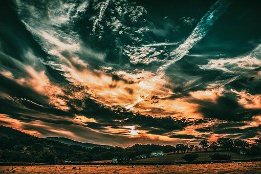 Sky, Nature, Landscape, Clouds, Tree