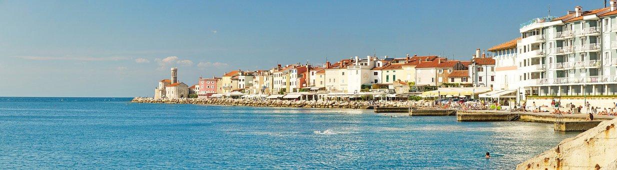 Piran, Croatia, Slovenia, Mediterranean, Coast, Beach