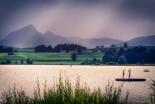 Lake, Alpine, Mountains, Landscape, Water, Bergsee