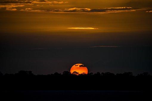 Sun, Sunset, Sky, Landscape, Nature, Dawn, Twilight
