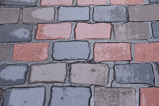 Pavers, Soil, Pavers Red And Black, Street, Demarcation