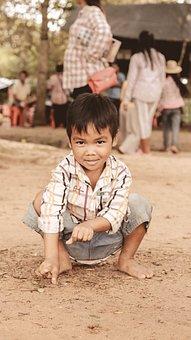 Children, Travel, Siem Reap City, Play