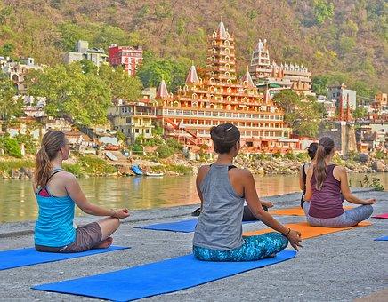Rishikesh, Yoga, India, Ganga, Meditation, Balance