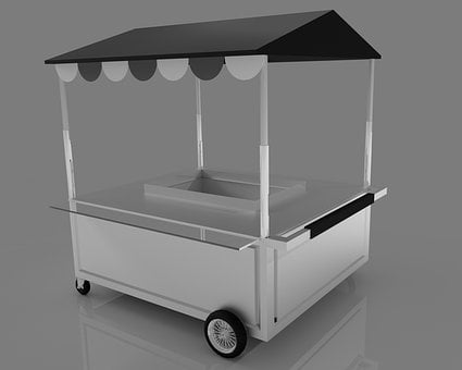 Cart, Retail, Vending Cart, Store, Sale, Market