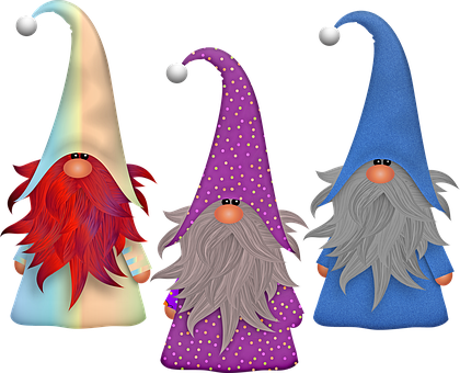 Gnomes, Scandivian, Elf, Imp, Beard