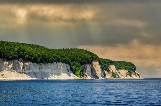Coast, Bank, Sea, Water, Ocean, White Cliffs