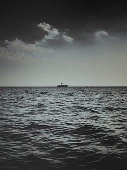 Sea, Waves, Water, Nature, Splash, Tide, Ship