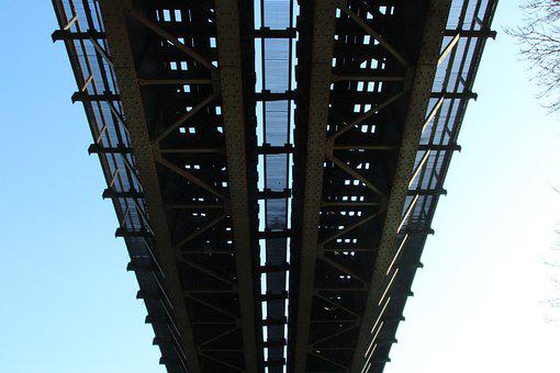 Railway Bridge, Steel Mesh, Architecture