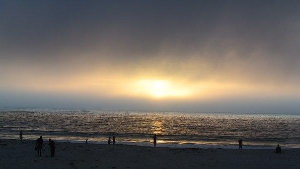 Sunset, Beach, Sea, Ocean, Water