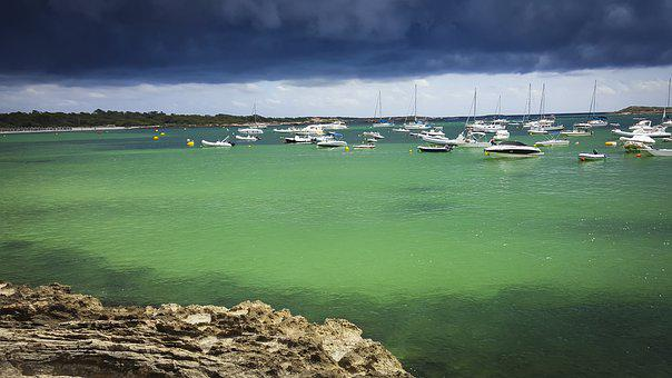 Mallorca, Thunderstorm, Coast, Gloomy, Sea