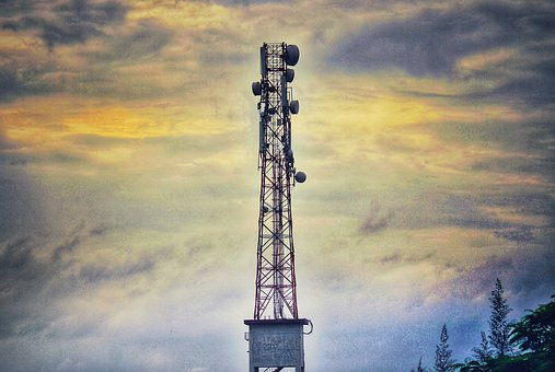 Tower, Network, Mobile Network, Technology, Evening