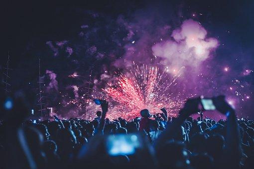 Fireworks, People, Festival, Night, Wallpaper