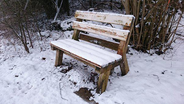 Seat, Winter, Cold, Bench, Nature, Friendship, Snow