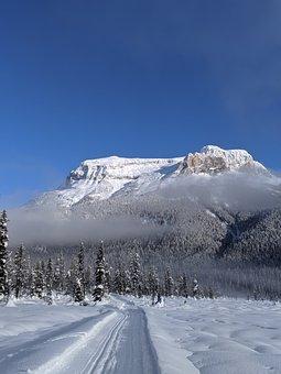 Emerald Lake, Snow, Nature, Winter