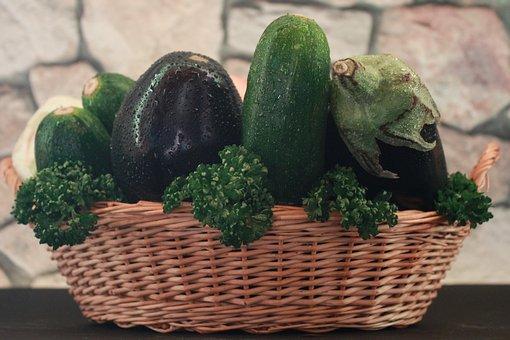 Eggplant, Zucchini, Eat, Healthy, Food
