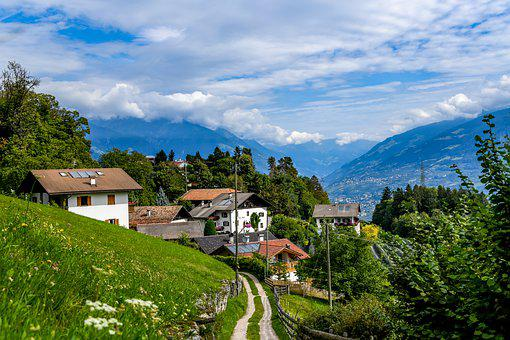 South Tyrol, Mountains, Village, Alpine, Italy, Alm