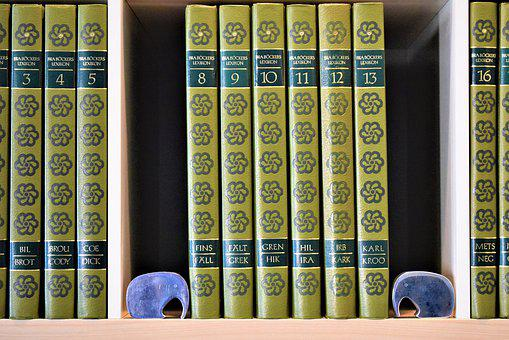 Books, Bookends, Encyclopedia, Knowledge