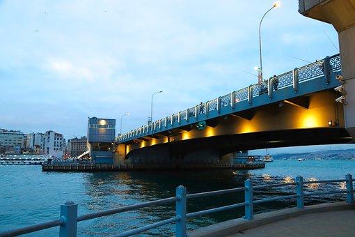 Galata Bridge, Galata, Bridge, Estuary, Fisherman