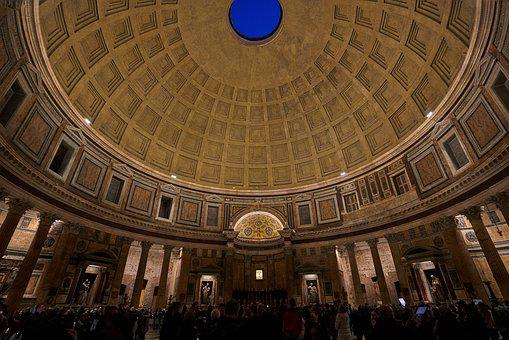Pantheon, Rome, Architecture, Italy, Building, Monument