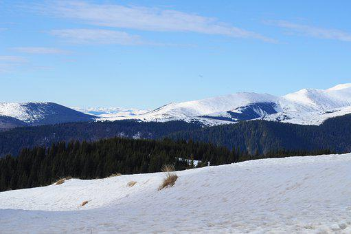 Ranca, Snow, Romania, Carpathians, Mountains, Sky