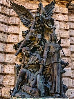 Statue, Budapest, Castle, Hungary, Monument, Bronze