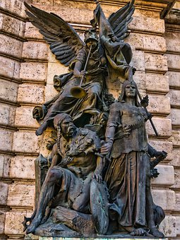 Statue, Budapest, Castle, Hungary