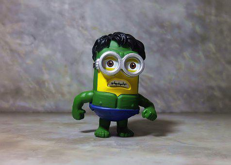 Minion Hulk, Toy, Funny, Cartoon, Character, Comic