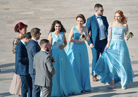 Group, People, Women, The Maid Of Honor, Dresses, Long
