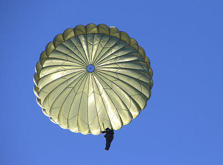 Parachute, Human, Exercise, Sky, Fall, Skydiving, Jump