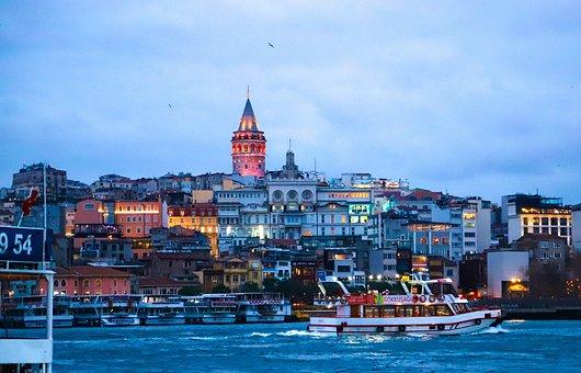 Galata, Galata Tower, Turkey, Cami, City, Architecture
