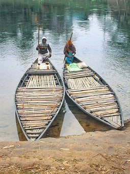 Boat, Man, Gossip, Bangladesh