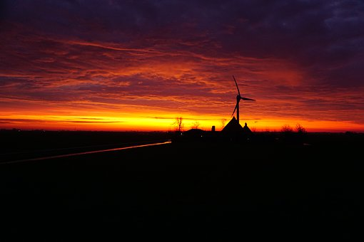 Holland, Pinwheel, Sunrise, Netherlands