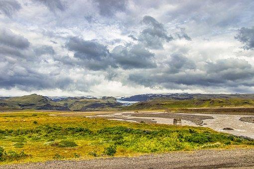 Iceland, View, Landscape, Nature, Sky