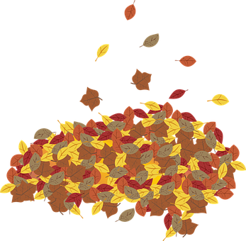 Graphic, Leaf, Leaves, Leaf Pile, Fall, Season, Autumn