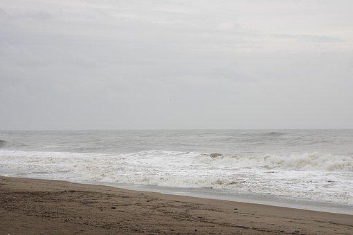 Marine, Beach, Storm, Wave, Nature