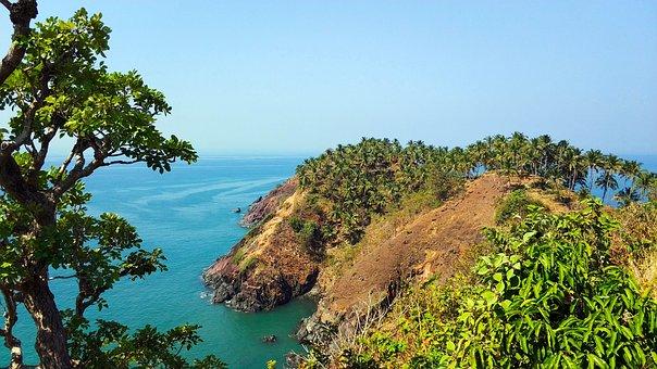 Nature, Landscape, India, Goa, Cabo De Rama Fort