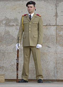 Man, Uniform, The Military, Gun, Service, Call, Person