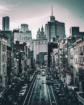 City, Road, Street, Urban, Buildings, Architecture