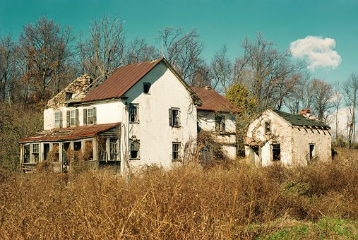 Farm, Abandoned, Ruin, Dilapidated, Building, Old