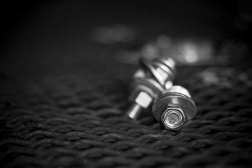Bolts, Metal, Industrial, Steel, Maintenance, Screw