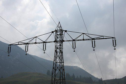 Current, Masts, Cable, Energy, Strommast, Landscape