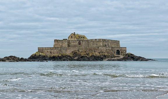 Saint Malo, Strong National, Sea, Island, Brittany