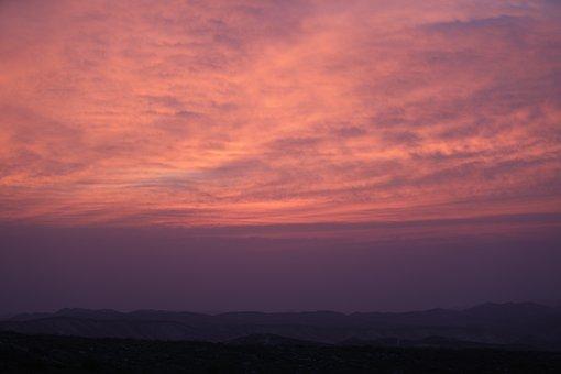 Sunset, Red, Sky, Clouds, Sun, Sunrise, Orange, Nature